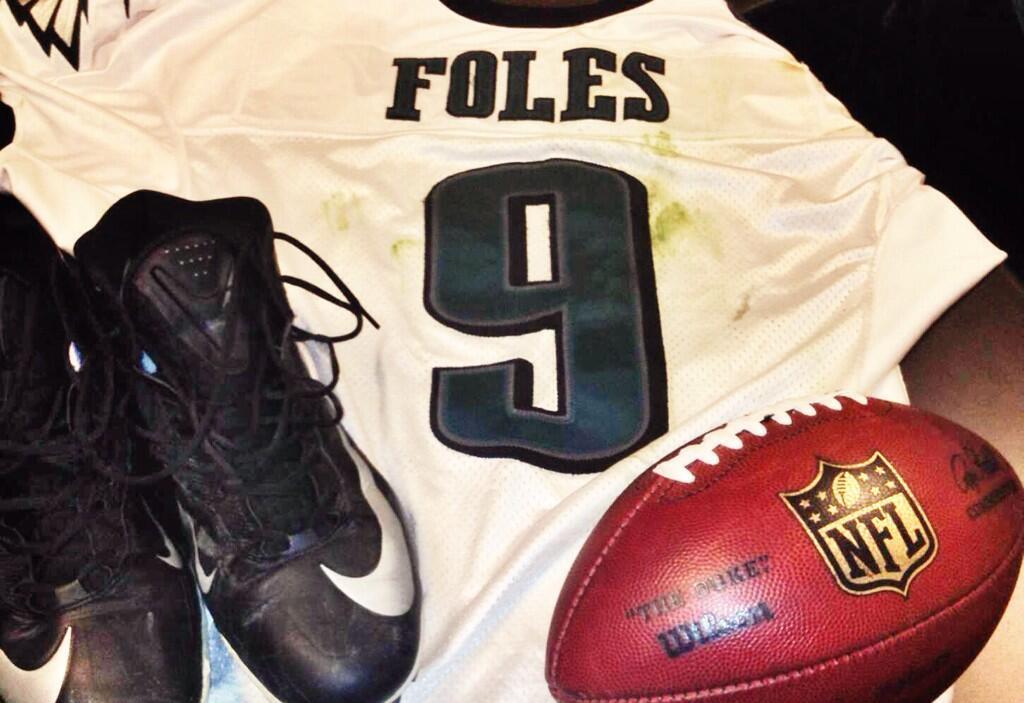 online retailer 43dda b9efe Eagles Send Nick Foles Gear To Hall of Fame - Sports Talk ...