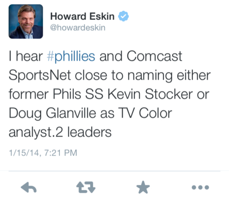Report: Kevin Stocker And Doug Glanville Finalists For Phillies TV Job