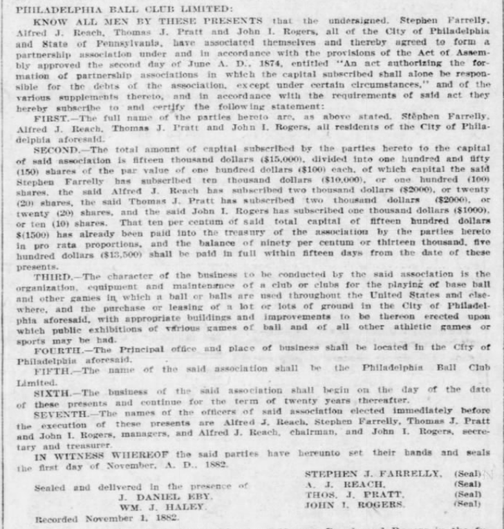 1901 charter