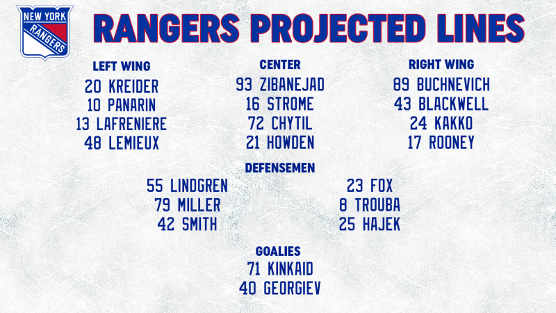 Opponent Line Combos 3-15