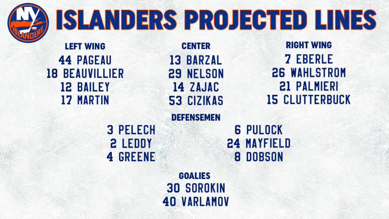 Opponent Line Combos 4-8