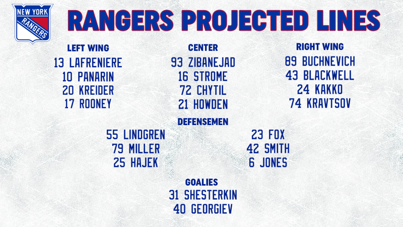 Opponent Line Combos 4-22