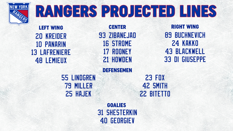 Opponent Line Combos 2-18